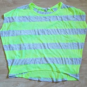 Forever 21 Neon Green and Grey Muscle Tee